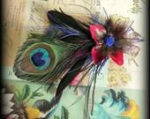 faerie tribal hair fascinator - jewelled twilight - hair clip