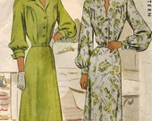 1940s McCall 6835 Vintage Sewing Pattern Misses Afternoon Dress, Shirtwaist Dress Size 12 Bust 30