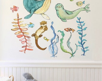 Briny Buddies - wall decal - set A