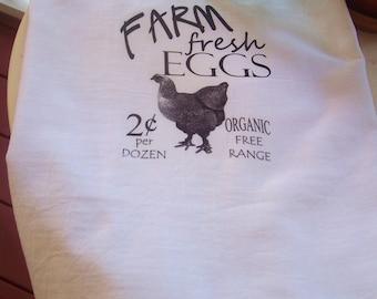 Farm Fresh Eggs Chicken Hen Kitchen Towel