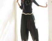 Soft Cotton Pants (135B) One Size /Funky pants/Hippie pants/Harem pants