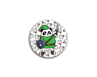 The Legend of Panda - Panda Link and Cuckoo Pinback Button