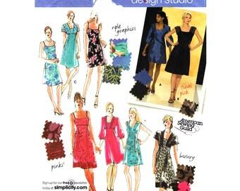 Empire Dress Pattern Simplicity 3676 Mini Dress Spaghetti Straps Sundress Design Your Own Dress Womens Sewing Pattern Size 14 to 22 UNCUT