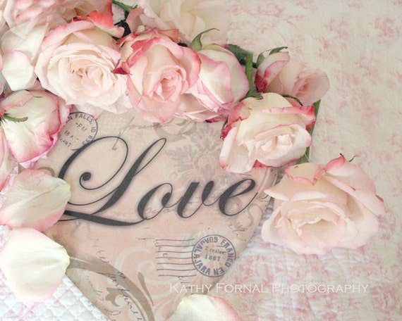 Photographie de roses romantiques shabby chic roses - Vintage and chic love ...