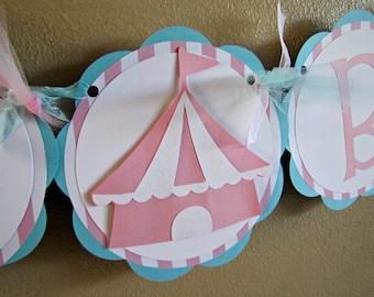 Circus Party Banner, Vintage Girl Circus Banner, Carnival Banner, Circus Birthday Party, Circus Birthday, Girl Carnival Banner, Carnival