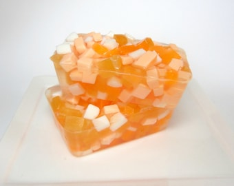 Sweet Orange Soap - Goats Milk and Olive Oil with Essential Oil, Glycerin Soap, Fruit Soap, Fall Soap,  Citrus Soap, Bar Soap