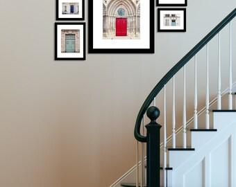 Paris Photography, France Print Set, Door Photography, Paris Decor, Paris Doors, Cottage Chic Prints - French Doors (Set of 5 prints)