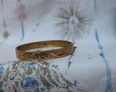 Antique Gold Bangle P&H Edwarden Victorian Monagramed on inside Enameled 30-10K VINTAGE by Plantdreaming