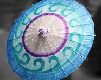Parasol - Blue Swirl