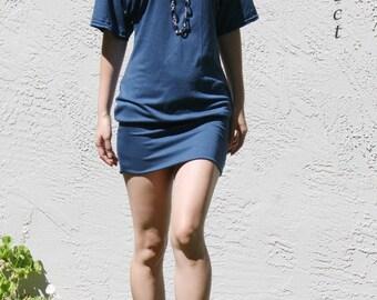 Kimono Sleeve Mini Dress- Teal modal