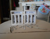 1:12 Scale Dollhouse Miniature - Organizer TRAY & CUTLERY Set
