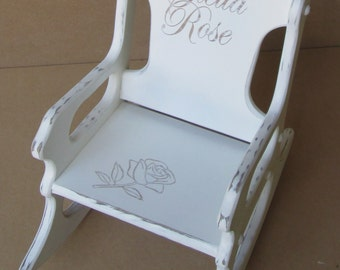 Toddler Rocking Chair/Shabby Chic/Distressed