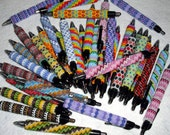 Beaded Writing Pen Peyote Stitch Delica Czech Glass Seed Beads Foray Gelio Gel Ink Pen Colors Office Wedding Party Favor Gift
