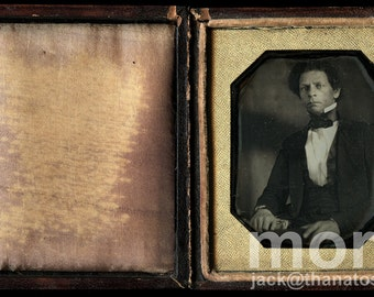 Historic 1840s Daguerreotype Photo / Joseph Jenkins Roberts President of Liberia