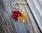 Fall Leaf Necklace, Maple Leaf Necklace Autumn Necklace Fall Necklace Maple Leaf Jewelry Autumn Leaf Jewelry Fall Jewelry Autumn Jewelry 006
