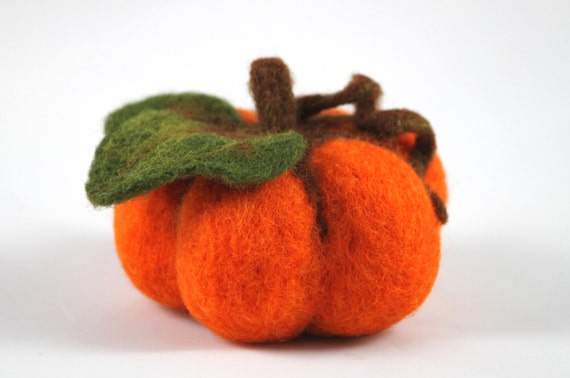 Felted Halloween Pumpkin Thanksgiving Decoration Orange Halloween Autumn Home Decor