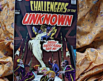 Deadman And Challengers Of The Unknown No 74 DC Comic Book Neal Adams Berni Wrightson Horror Sci Fi