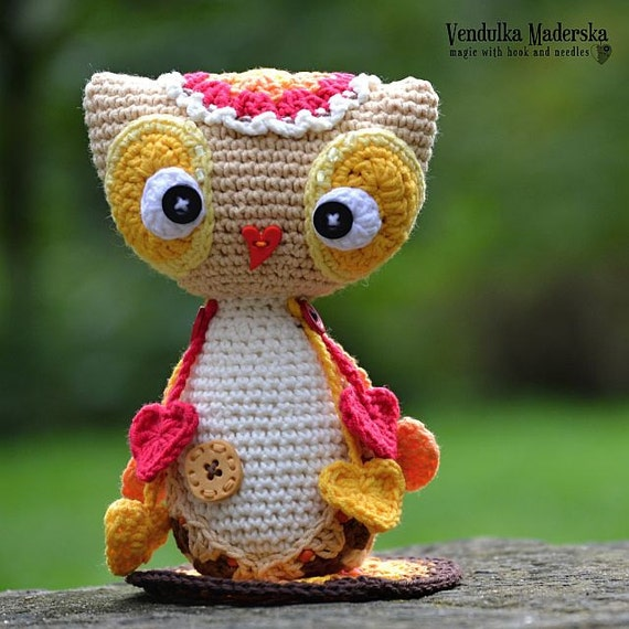 Crochet Pattern Owl Baby : Crochet baby owl pattern by VendulkaM on Etsy
