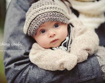CROCHET Hat PATTERN: 'Max Newsboy', Crochet Newsboy Hat, Crochet Bowtie