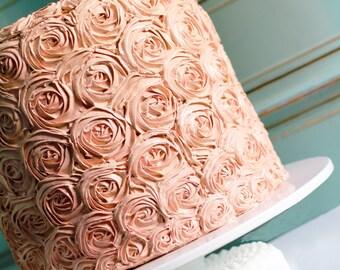 "Wedding Cake Stand / 20"" Low Cake Stand / Custom Cake Stands for Custom Wedding Cakes / Large Cake Stand Footed Cake Pedestal"
