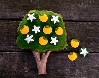 Montessori Toy--Orange Tree. Magnetic  Counting and Sorting work by AlyParrott on Etsy. Made to Order