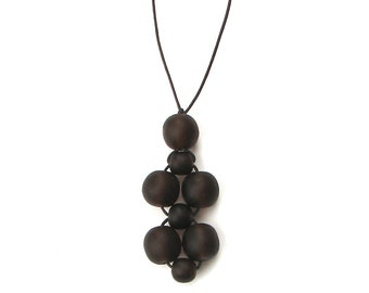 SALE  - Resin Nursing Necklace/ Breastfeeding Necklace - Chocolate Brown