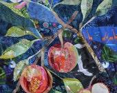 Botanical Apples Fabric Art