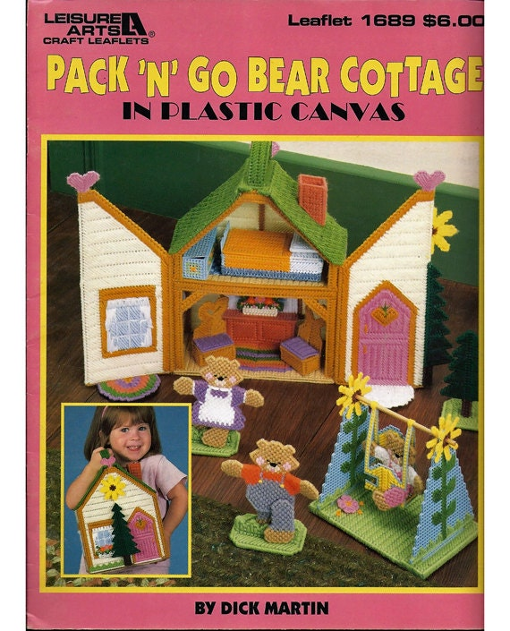 Pack N Go Bear Cottage In Plastic Canvas Patterns Leisure Arts
