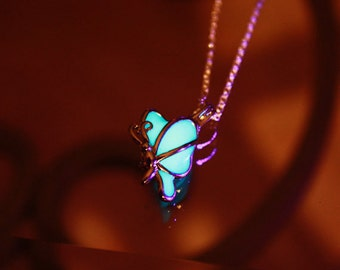 Butterfly Pendant GLOW in the DARK Locket