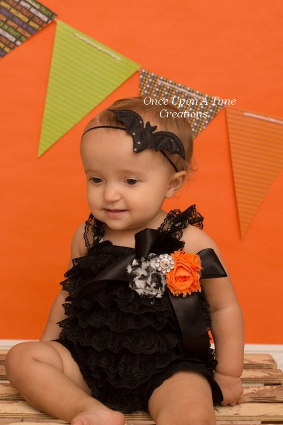 black sequin bat petite skinny headband newborn baby hairbow. Black Bedroom Furniture Sets. Home Design Ideas