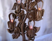 Electrical candlestick, Wood carving, Wedding gift, Houseware - TO BE ORDERED