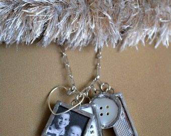 Personalized Custom Photo Charms, Family Photo Gift, Family Keepsake Charms, Mother's Day, Silver Soldered Charms, Valentine