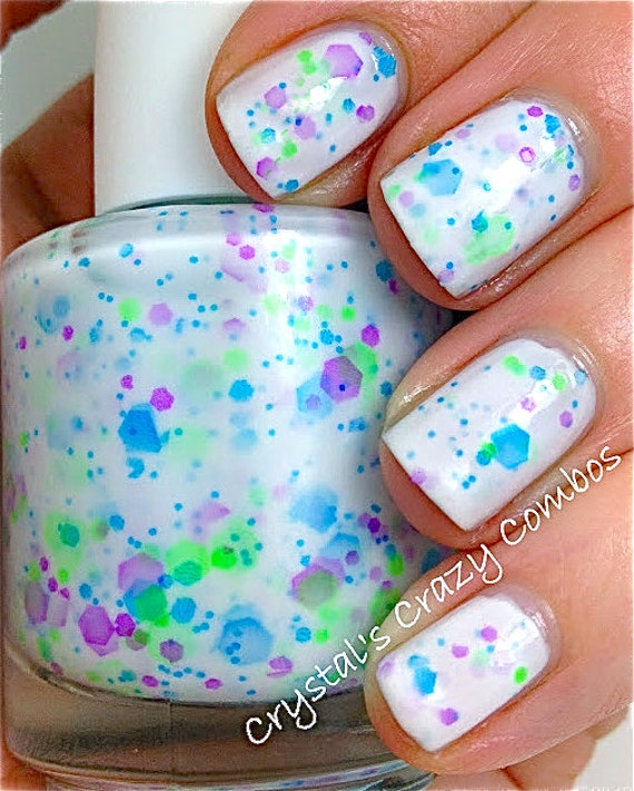 Monster Mash Neon Custom-Blended NEON Glitter Nail Polish