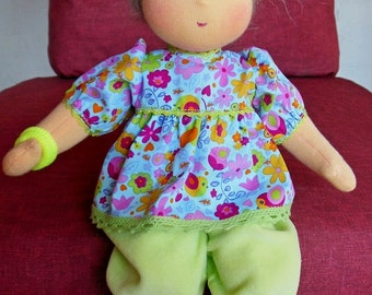 "Waldorf doll 13"" inches, Baby for children from 2 years - A gift for birthday - girl"