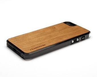 iPhone 5 Case Wood Cherry, Wood iPhone SE Case, iPhone 5S Case Wood