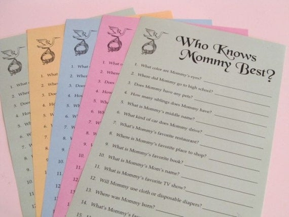 baby shower game who knows mommy best print your own daddy