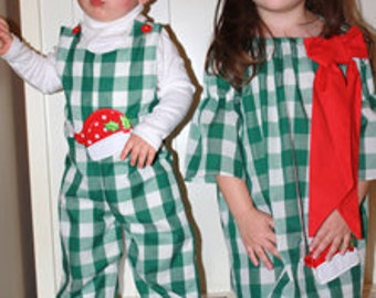 Christmas Twins Sister Brother Holiday Outfit Matching