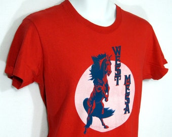 Vintage West Mesa Mustang Marching Band T-Shirt Sz.S/M 1970's