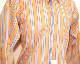 Vintage Deadstock Selkirk Colorful Striped Shirt Sz.M 1960's
