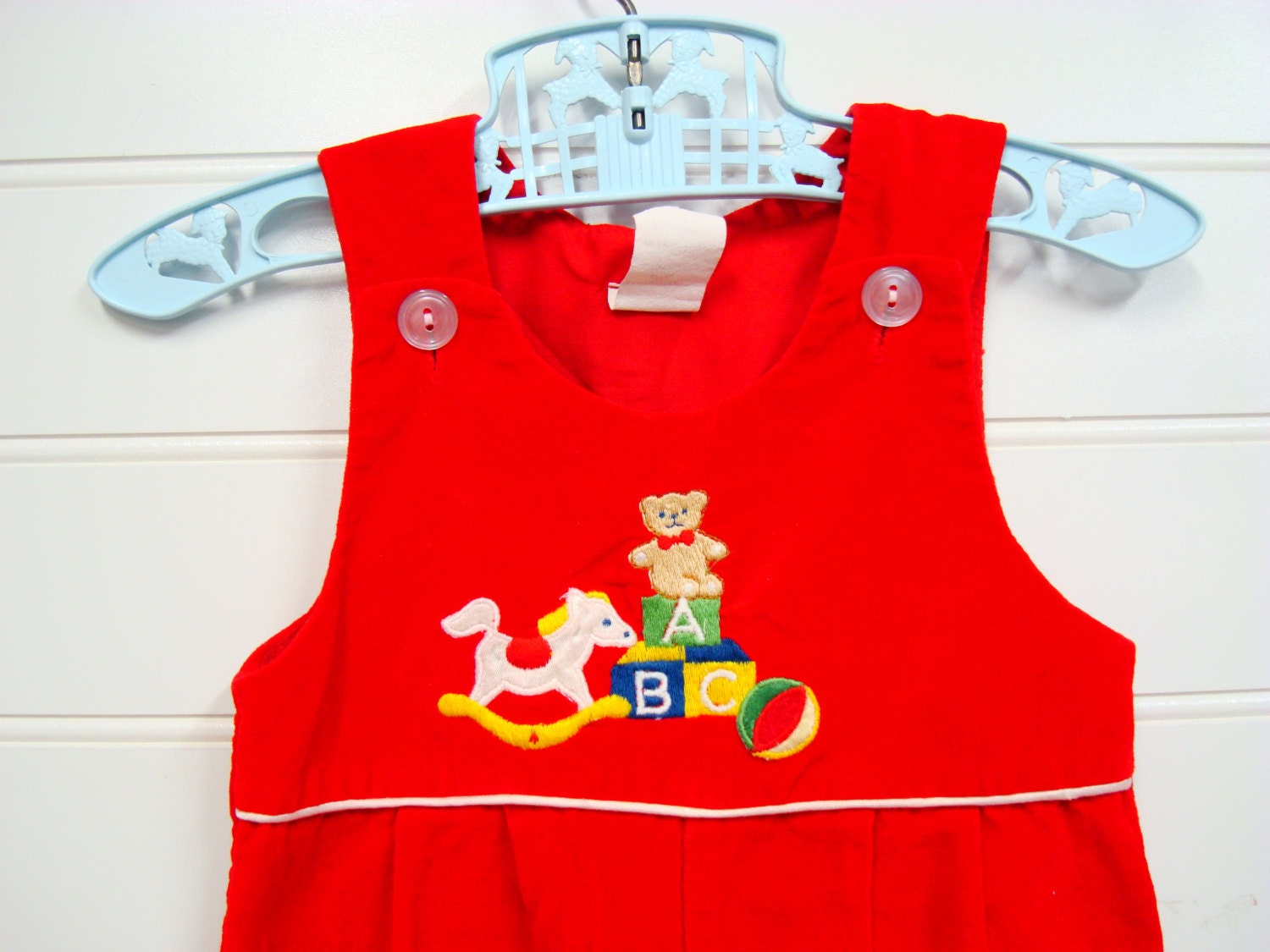Vintage baby clothes baby girl velvet jumper by onceuponadaizy