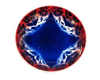 Antique Flow Blue Boulenger Serving Bowl Made in France