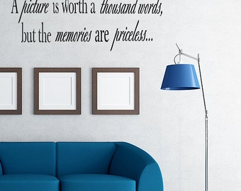 A Picture Is Worth A Thousand Words Vinyl Wall Decal Quotes Home Wall Sticker Decor (V120)