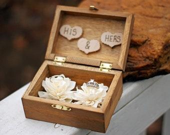Wedding Ring Box - Wedding Ring Holder- Ring Bearer Box - Shabby Chic Wedding Decor - Ring Pillow - Personalized Ring Box - Ring Bearer