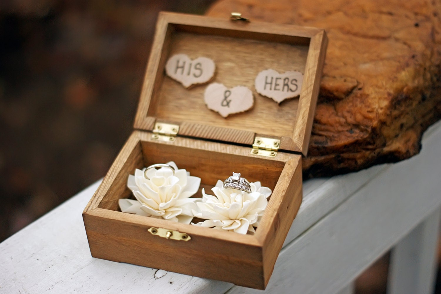Wedding ring box wedding ring holder ring bearer box for Cute engagement ring boxes