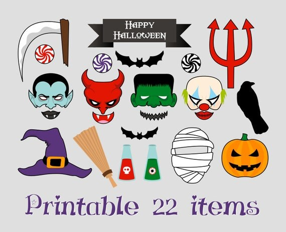 Printable halloween photo booth vampire witch frankenstein printable halloween photo booth vampire witch frankenstein dracula bat scary mask diy print it yourself solutioingenieria Gallery