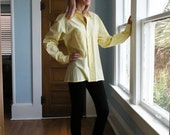 Vintage Long Sleeve Pale Yellow Shirt Men Sz Medium
