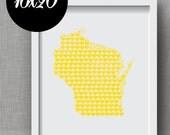 Custom State, City, Country Heart Print - Order Any Heart Map Art Print in 16x20 Format - Custom State City Art Print