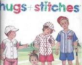 Simplicity 8317 Pattern for Toddlers' Shorts, Shirt, Cap, Size 1, From 1997, Hugs & Stitches Pattern, ~~by Victorian Wardrobe