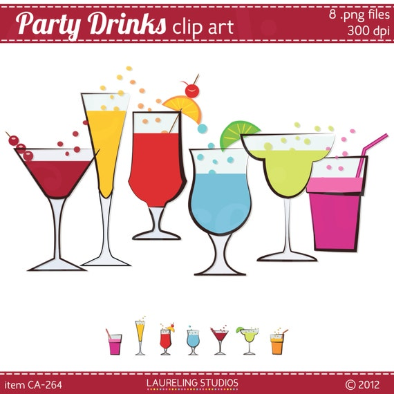 Items similar to drink clipart summer drink clip art 8 for Summer drinks for party