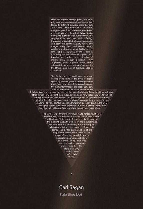 Carl Sagan Pale Blue Dot Poster (8x10, 11x17, or 13x19)